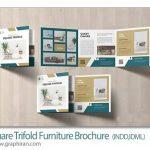 دانلود طرح بروشور فروشگاه مبل لایه باز 3 لت مربعی برای ایندیزاین