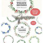 دانلود براش های ایلوستریتور حلقه گل NEW! Wreath Brushes for Illustrator