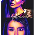 اکشن فتوشاپ نقاشی با نور ۳ بعدی ۳D Light Painting Effect