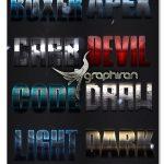 دانلود 10 استایل برجسته و خلاقانه فتوشاپ Creative Bold Text Effects Vol.1