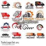 دانلود تصاویر لوگو وکتور کامیون حمل و نقل و اتومبیل فرمت EPS لایه باز