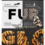 دانلود پک ابزار فتوشاپ ساخت افکت موی حیوانات Fur Styles, Actions, Brushes