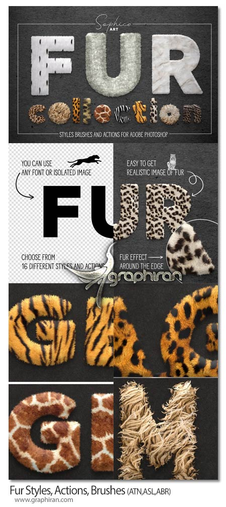 دانلود پک ابزار فتوشاپ ساخت افکت موی حیوانات