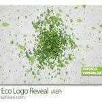 پروژه افتر افکت نمایش لوگو با موضوع محیط زیست Green Eco Logo Reveal