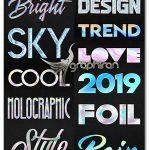 دانلود استایل های هولوگرافیک فتوشاپ Holographic Photoshop Layer Styles
