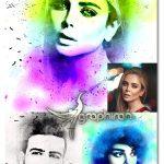 اکشن فتوشاپ افکت پرتره جوهری Ink Portrait Photoshop Action