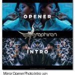 دانلود پروژه افتر افکت نمایش عکس به شکل آینه ای Mirror Opener Photo Intro
