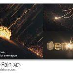 دانلود رایگان پروژه افتر افکت بارش ذرات نورانی Particle Rain