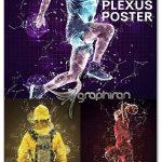 اکشن فتوشاپ ساخت پوستر انتزاعی Plexus Poster Photoshop Action
