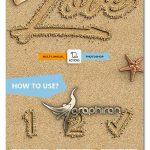 اکشن فتوشاپ افکت نوشته روی شن ساحل Sand Text Photoshop Action