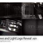 پروژه افتر افکت نمایش لوگو به سایه و نور Shadows and Light Logo Reveal