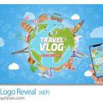 دانلود پروژه افتر افکت لوگو با موضوع سفر Travel Logo Reveal