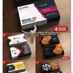 دانلود ۵ طرح لایه باز کارت ویزیت تجاری و شرکتی مدرن با طراحی زیبا