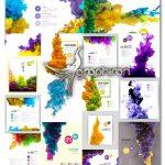 دانلود تصاویر وکتور لایه باز ابرهای رنگارنگ و زیبا فرمت EPS