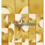 دانلود تصاویر بک گراند وکتور طلایی و هندسی و گل دار فرمت EPS لایه باز
