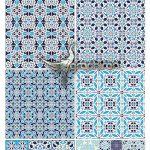 دانلود تصاویر پترن وکتور کاشی و سرامیک Ceramic Tile Seamless Patterns