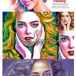 اکشن فتوشاپ افکت نقاشی دیجیتال رنگارنگ Digital Painting Photoshop Action