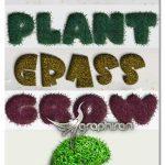 اکشن فتوشاپ ساخت افکت چمن واقعی Grass Photoshop Action