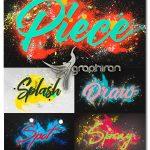 اکشن فتوشاپ ساخت افکت اسپری رنگ Spray Paint Photoshop Action