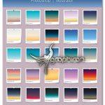 دانلود 30 گرادینت آسمان واقعی برای فتوشاپ و ایلوستریتور Realistic Sky Gradients