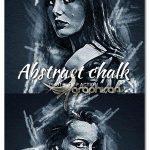 اکشن فتوشاپ افکت نقاشی انتزاعی با گچ Abstract Chalk Photoshop Action