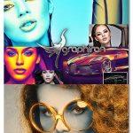 اکشن فتوشاپ افکت گرادینت رنگی Color Gradient Photoshop Action