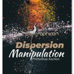 اکشن فتوشاپ جدا شدن ذرات عکس Dispersion Manipulation Photoshop Action