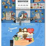 دانلود تصاویر وکتور لایه باز خدمات بیمه Insurance Services
