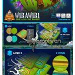 ابزار فتوشاپ ساخت نقشه بازی WIRAWIRI Game Level Map Builder