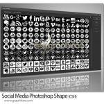دانلود 160 شیپ فتوشاپ شبکه های اجتماعی Social Media Photoshop Shapes