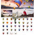 دانلود 36 عکس PNG دوربری شده بالن Hot Air Balloon Photo Overlays