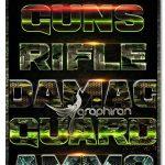 دانلود استایل های جنگی فتوشاپ Army Photoshop Text Effects