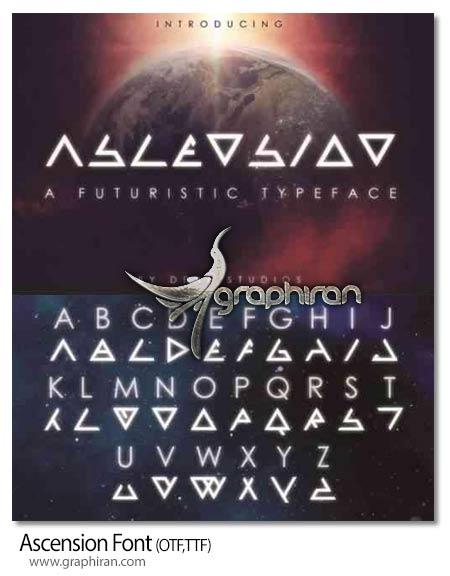 دانلود فونت انگلیسی Ascension