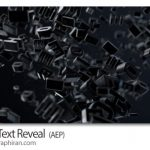 دانلود رایگان پروژه افتر افکت نمایش متن مشکی 3 بعدی Black Text Reveal