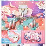 دانلود تصاویر وکتور بنر و پوستر تبلیغاتی لوازم آرایشی Cosmetic Design Vectors