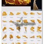 دانلود 44 عکس پارچه ساتن طلایی PNG با کیفیت Gold Satin Photo Overlays