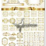 دانلود مجموعه وکتور فریم و قاب طلایی گلدار تزئینی و ساده EPS لایه باز