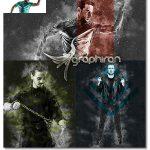 دانلود اکشن فتوشاپ ساخت پوستر گرانج Grunge Poster Photoshop Action