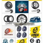 دانلود تصاویر وکتور خطی ماشین و چرخ Cars & Wheels Stock Vectors