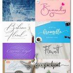 دانلود مجموعه بهترین 40 فونت چسبیده و دستخط و خوشنویسی انگلیسی