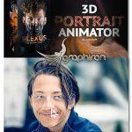 دانلود پروژه افترافکت ساخت انیمیشن 3 بعدی چهره 3D Portrait Animator