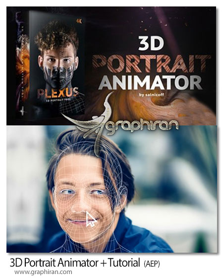 دانلود پروژه افترافکت ساخت انیمیشن 3 بعد چهره