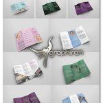 دانلود 6 طرح لایه باز بروشور فشن و لباس Fashion Tri-fold Brochures