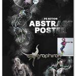 اکشن فتوشاپ افکت پوستر انتزاعی Abstract Poster Photoshop Action