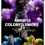 اکشن افکت انیمیشن دودهای رنگی Animated Colored Smoke Photoshop Action