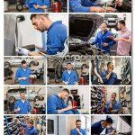 دانلود 19 عکس استوک مرد مکانیک ماشین در تعمیرگاه با کیفیت از Fotolia