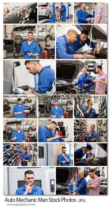 دانلود 19 عکس استوک مرد مکانیک ماشین در تعمیرگاه