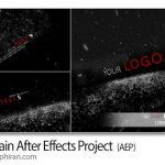 دانلود رایگان پروژه افترافکت باران سیاه و نمایش لوگو Black Rain