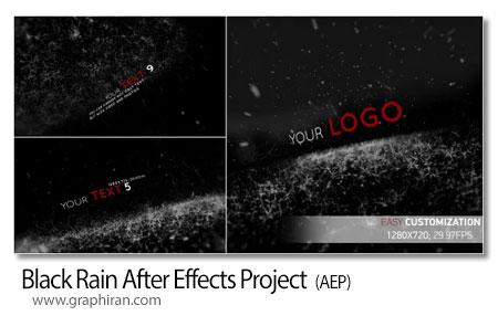دانلود رایگان پروژه افترافکت باران سیاه و نمایش لوگو
