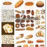دانلود مجموعه کامل تصاویر وکتور نان فانتزی، نان باگت، نان تست و غیره